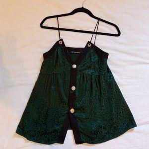 Zara green cheetah print camisole